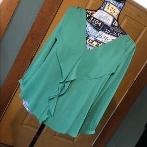 Beautiful green Anthropologie top